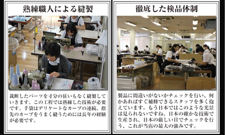 熟練職人による裁縫 徹底した検品体制