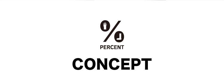 パーセントのコンセプト