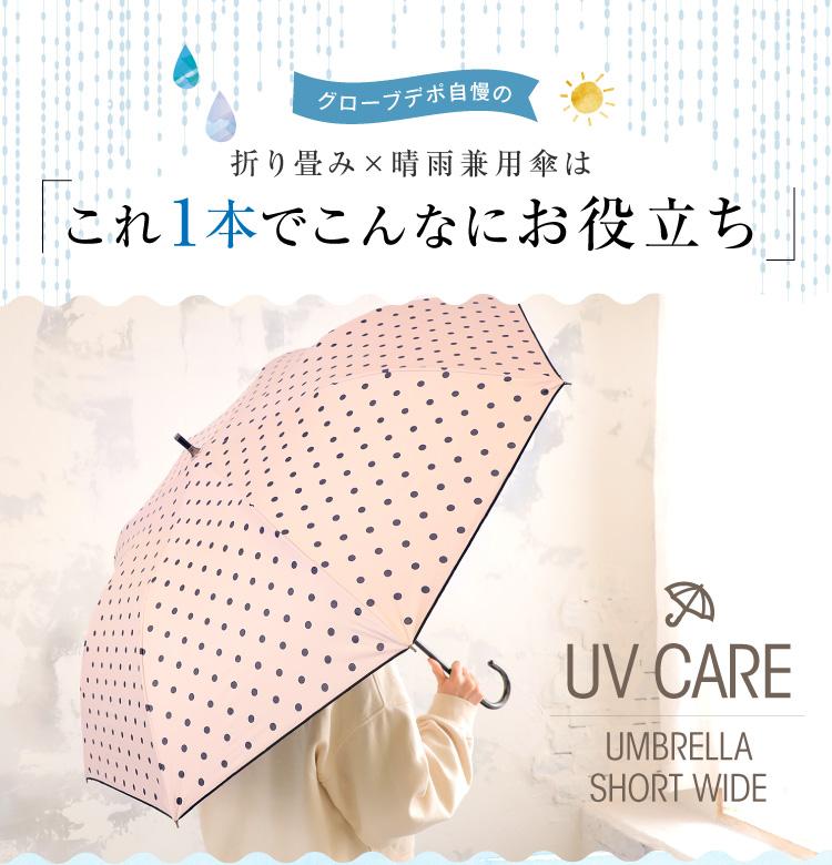 グローブデポ自慢の折り畳み×晴雨兼用傘は「これ1本でこんなにお役立ち」