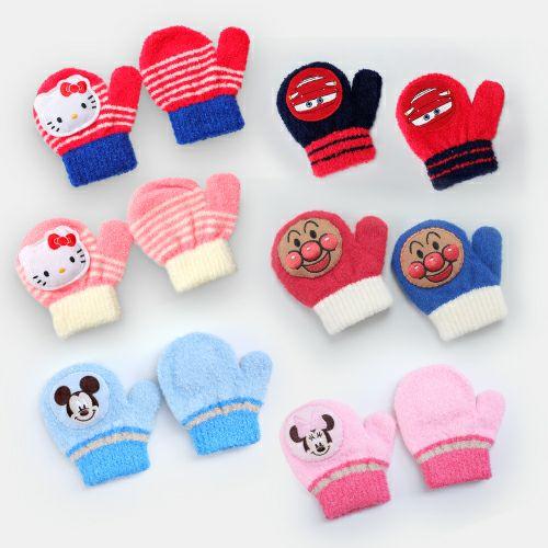 キッズのびのび笛付きキャラクター手袋 ミトンタイプ