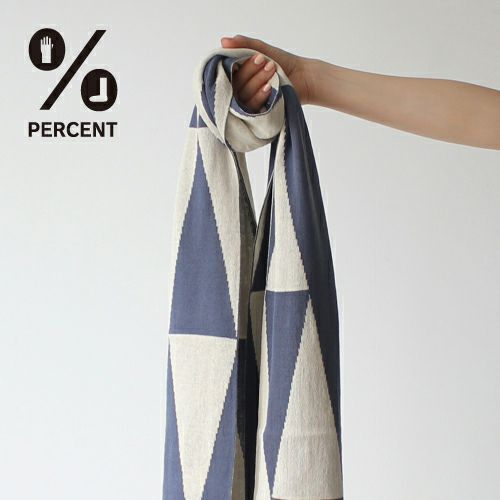 % SCARF POLYGON Navy 50%&Beige 50% サムネ
