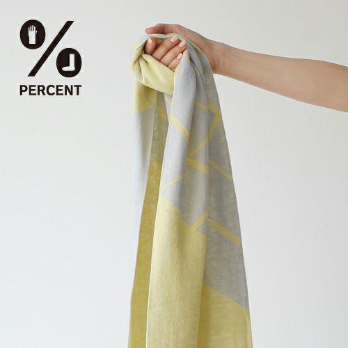 % SCARF CROSS Gray 50%&Yellow 50% サムネ