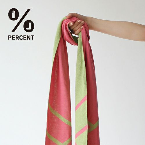 % SCARF CROSS Pink 50%&Green 50% サムネ