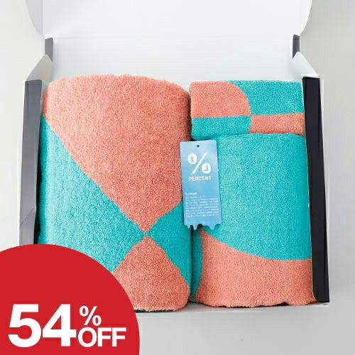 % Towel Gift sets DOT:Green 50% Pink 50%【送料無料】1